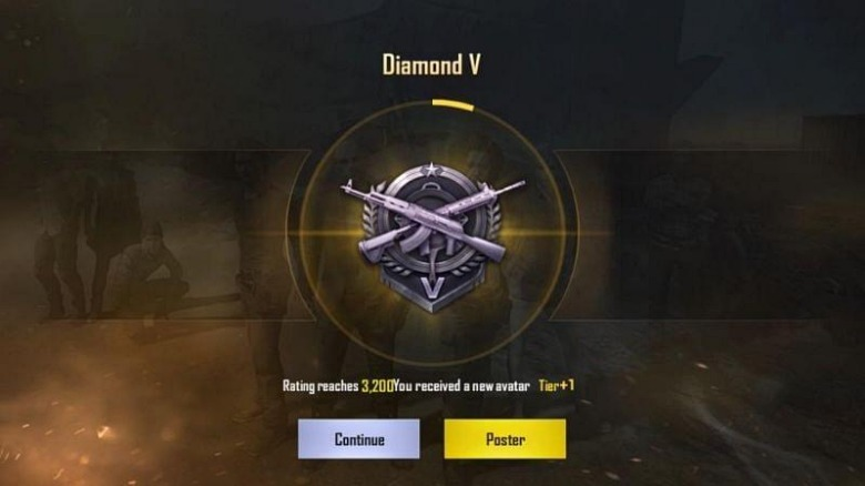 rank diamond pubg mobile